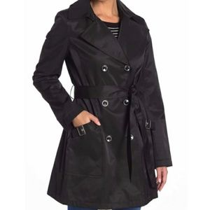 Via Spiga black trench coat, XL